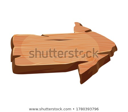 blank arrow-shaped signboard pointing to the right Stock photo © nito