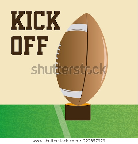Rugby ball ready to be kicked on the field Stock photo © tish1