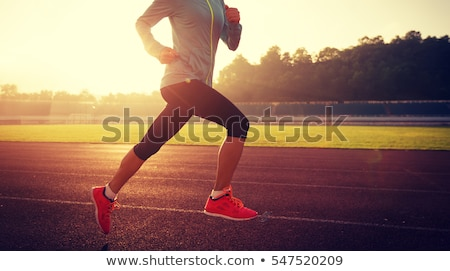 sports shoes on green grass Stock photo © ssuaphoto