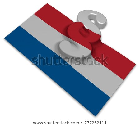 paragraph symbol and dutch flag   3d illustration stock photo © drizzd