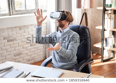 Futuristic technology in modern business, businessman with VR he Stock photo © stevanovicigor