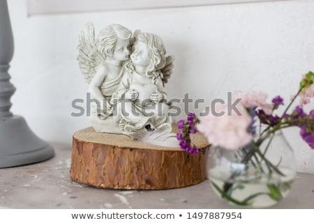 ángel · figurilla · boda · decoración · nino · vidrio - foto stock © gsermek