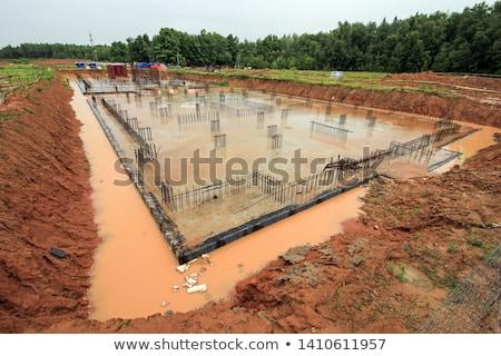 建設現場 カラフル 作業 雨 青 アーキテクチャ ストックフォト © luissantos84