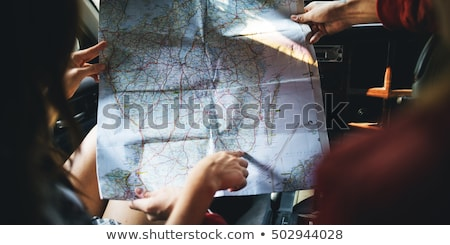 турист · карта · лес · человека · походов · зеленый - Сток-фото © wavebreak_media