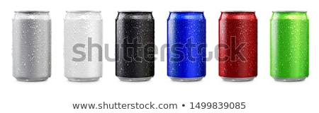 Vert coup métal boire Photo stock © devon