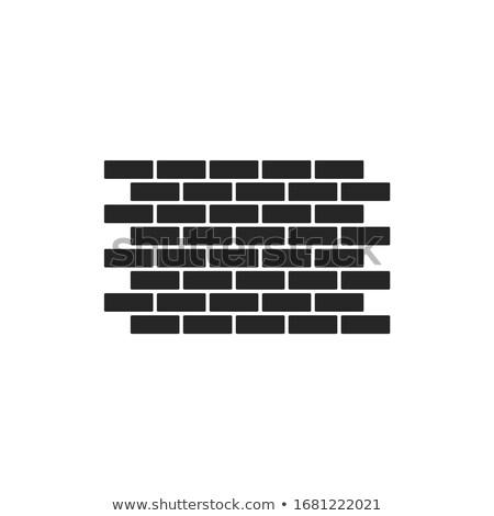 Simple pared de ladrillo patrón estilo casa edificio Foto stock © biv