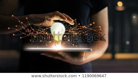 アイデア 接続 インタラクション ビジネスマン 手 ストックフォト © adam121
