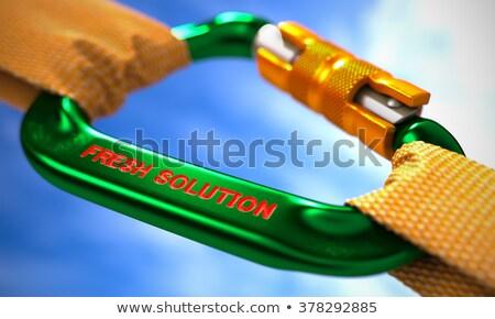 Vers oplossing groene oranje touwen hemel Stockfoto © tashatuvango