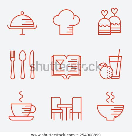 Cutlery icons in flat style Stock photo © biv