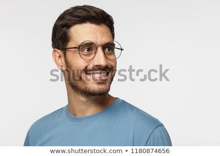 Zdjęcia stock: Człowiek · patrząc · portret · młody · człowiek · czarny · garnitur