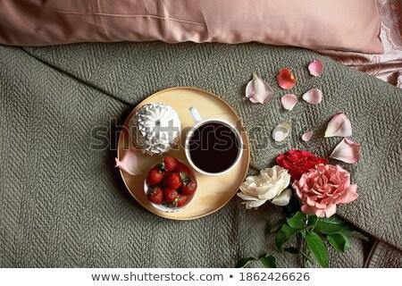 a romantic morning breakfast treat stock photo © klsbear