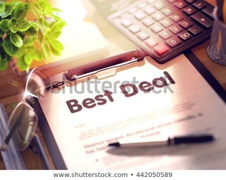 best offers concept on clipboard 3d stock photo © tashatuvango