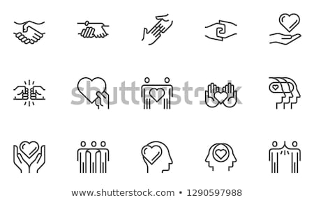 Icon hand that gives  Stock photo © Olena