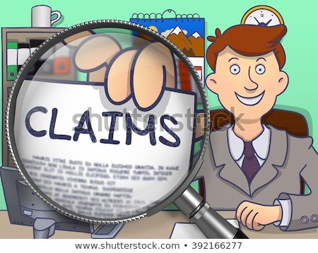 claim through magnifying glass doodle concept stock photo © tashatuvango