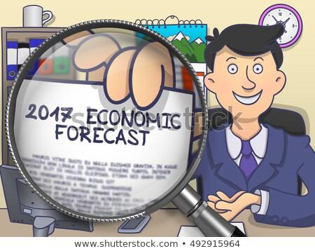 経済の 予測 レンズ いたずら書き 男 ストックフォト © tashatuvango