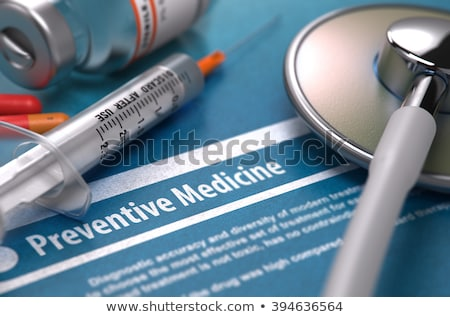 Preventive Medicine - Printed Diagnosis on Blue Background. Stock photo © tashatuvango