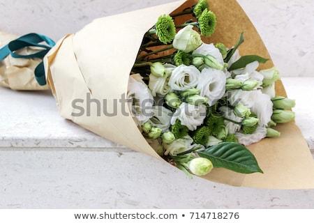 Bloemen boeket elegante witte decoratief groene Stockfoto © zhekos