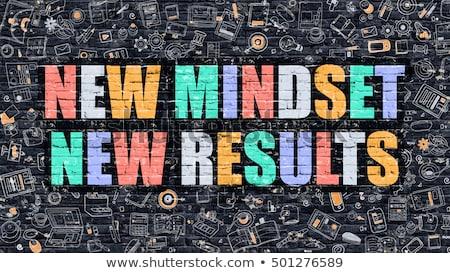 új gondolkodásmód eredmények sötét modern illusztráció Stock fotó © tashatuvango