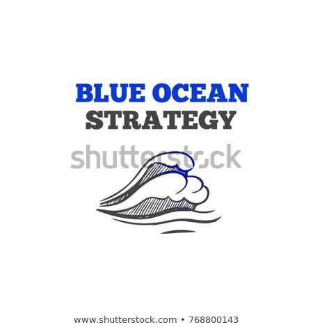internet · illustratie · Blauw · schoolbord - stockfoto © tashatuvango