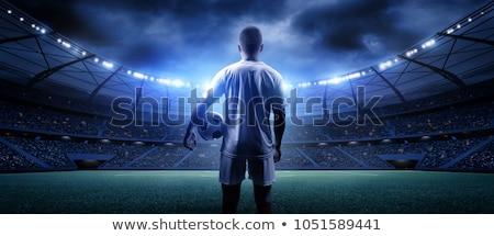 football player ready to kick the soccer ball stock photo © wavebreak_media