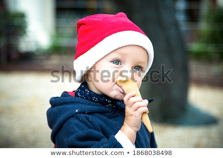 kids with costume eating ice cream stock photo © is2