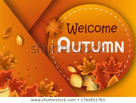 Welcome Fall Handwritten Calligraphy Stock photo © Anna_leni