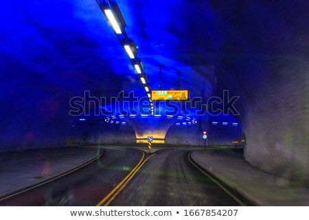 Rotonde tunnel Noorwegen lang weg Stockfoto © compuinfoto