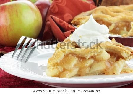 домашний · яблочный · пирог · свежие · органический · яблоки · продовольствие - Сток-фото © lightfieldstudios