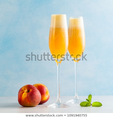 two glasses of bellini cocktail stock photo © alex9500
