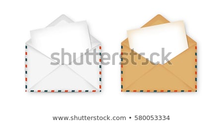 Carta da lettere busta comunicazione carta mail lettera Foto d'archivio © devon