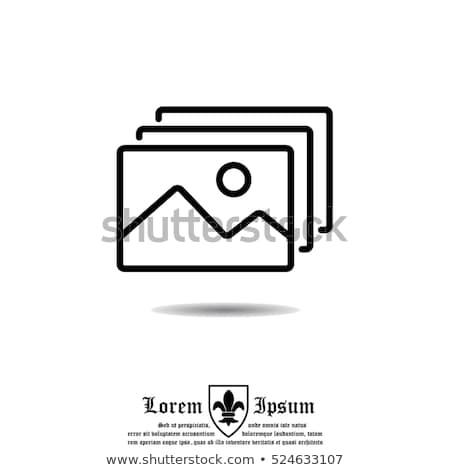 Anexada foto linha ícone vetor isolado Foto stock © RAStudio