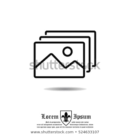 csatolva · fotó · vonal · ikon · vektor · izolált - stock fotó © rastudio