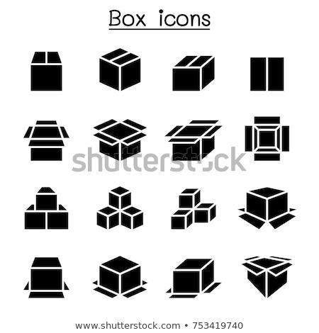 containerschip · icon · kleur · ontwerp - stockfoto © studioworkstock