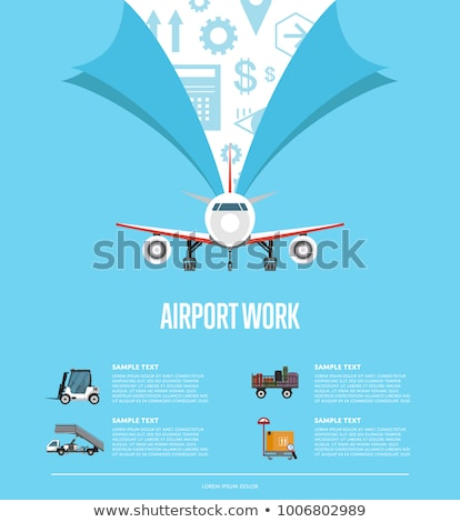 worldwide flying concept for airline advertising stock photo © studioworkstock