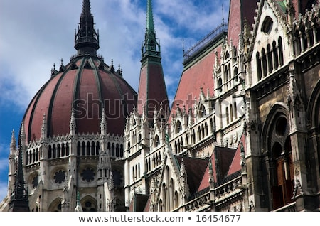 Details hongaars parlement gebouw Boedapest Stockfoto © magraphics