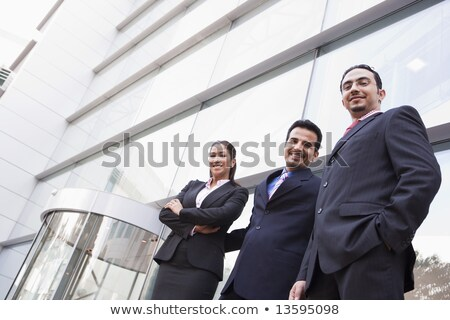 mujer · de · negocios · pie · fuera · oficina · negocios - foto stock © monkey_business