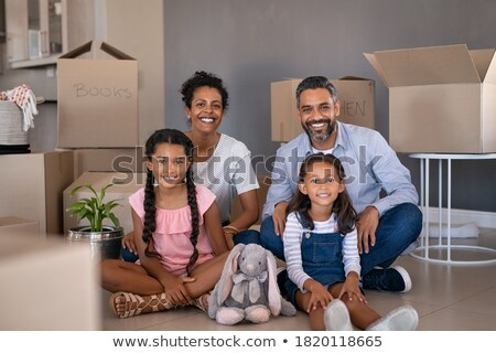 portret · twee · kinderen · home · familie - stockfoto © monkey_business