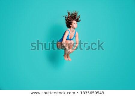 腿 美麗 女子 白 天空 春天 商業照片 © ssuaphoto