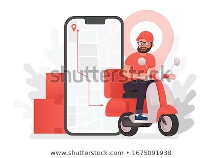Vector Postal Scooter Stock photo © dashadima