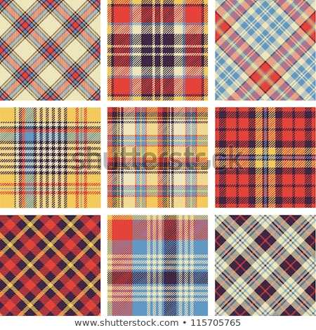 Scottish plaid fabric background for seamless pattern. Vector illustration. Stock photo © FoxysGraphic