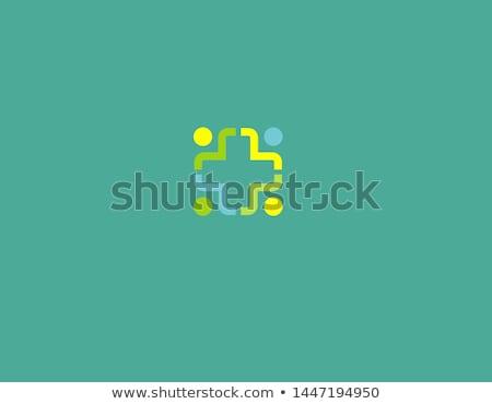 Lineal estilo enfermera silueta icono vector Foto stock © Olena