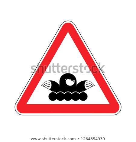 dikkat · karakter · dikkat · tehlikeli · uyarı - stok fotoğraf © popaukropa