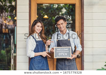 Businesspeople in a restaurant Stock photo © IS2