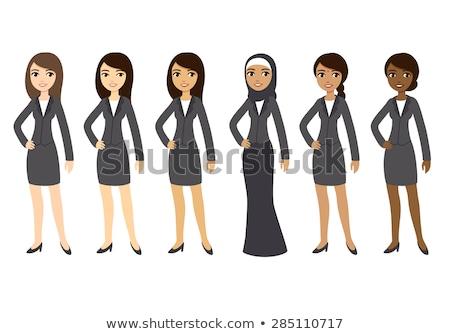 インド ビジネス女性 ベクトル 漫画 実例 孤立した ストックフォト © NikoDzhi