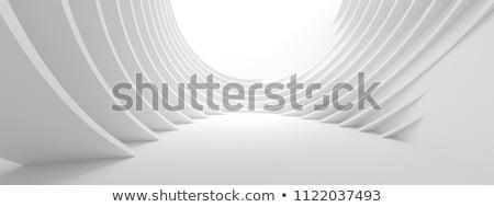résumé · futuriste · 3D · bleu · verre - photo stock © ixstudio