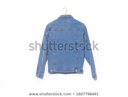 blue threads of a denim jacket Stock photo © OleksandrO