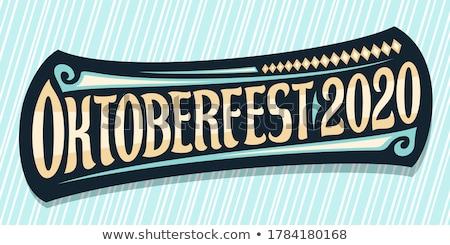 oktoberfest · anunciante · salto · gafas · cerveza - foto stock © orensila