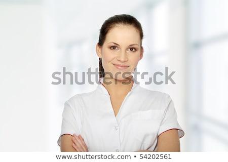 White coat women_sns Stock photo © toyotoyo