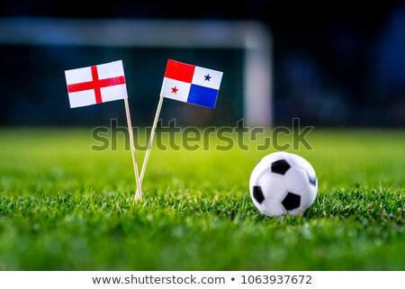 Panama bayrak rus futbol olay simge Stok fotoğraf © cienpies