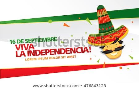 Viva Mexico Happy Independence Day Vector Background Stock photo © SaqibStudio